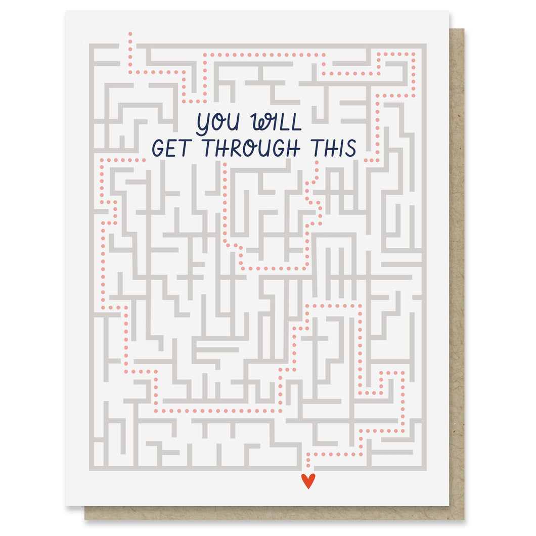 Get Through This Maze Encouragement or Get Well Card