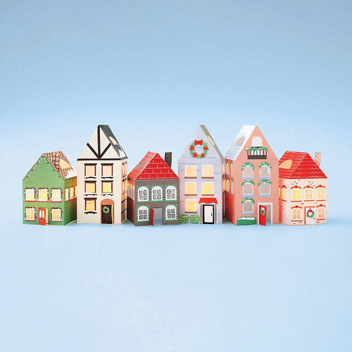DIY Paper Holiday Village Putz House Craft Kit
