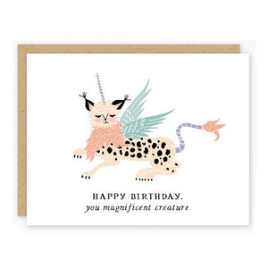 Magnificent Creature Birthday Card