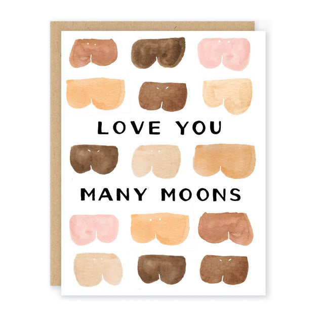 Love You Many Moons Valentine Card