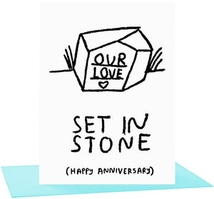 Set In Stone Anniversary Card