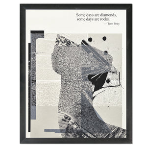 "Tom Petty Some Days Typographic 11"" x 14"" Limited Edition Screen Print"