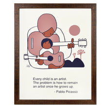 "Picasso Artist Quote Typographic 11"" x 14"" Limited Edition Screen Print"