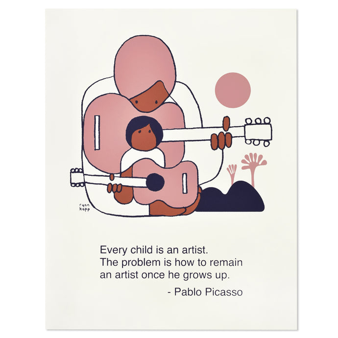 Picasso Artist Quote Typographic 11