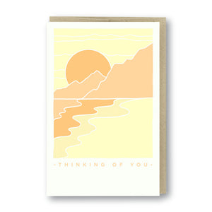 Thinking of You Scenery Letterpress Card