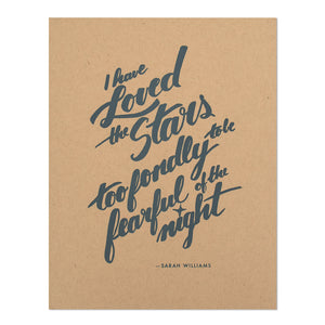 "Loved the Stars 8.5"" x 11"" Silkscreen Print"