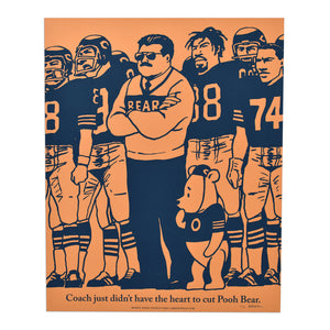 "Da Coach and Pooh Bear 16"" x 20"" Screen Print"
