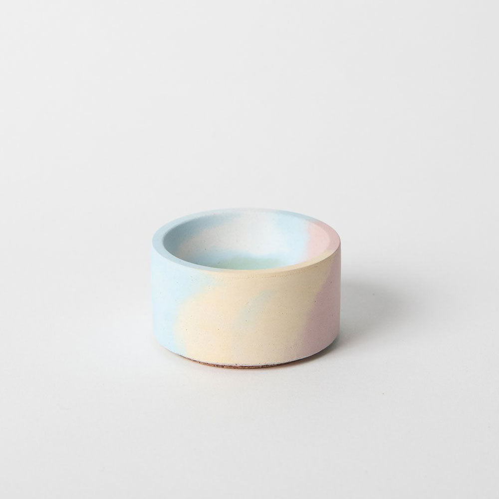 Marbled Concrete Cylinder Incense Holder