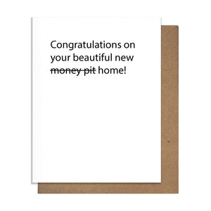 New Home Money Pit Card