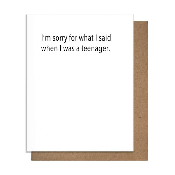 Sorry Teenager Father's Day Card