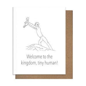 Welcome Kingdom New Baby Letterpress Card