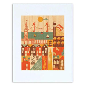"San Francisco Illustration 8"" x 10"" Print"
