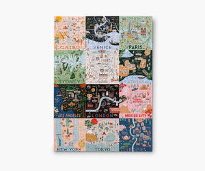Rifle Paper Co. City Maps 500 Piece Jigsaw Puzzle
