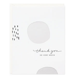 Thank You So Very Much Circle Card