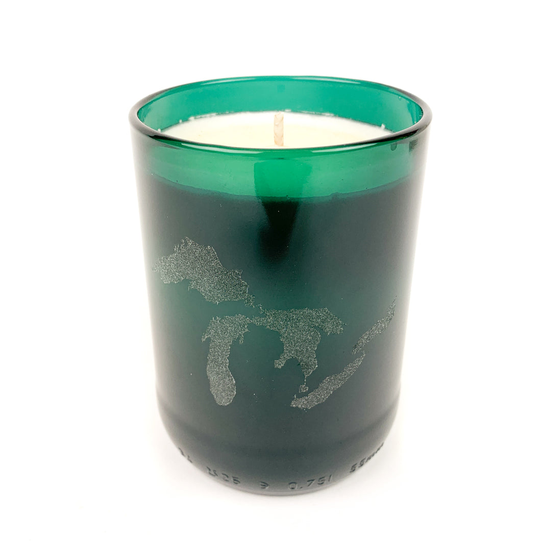 Great Lakes Etched Soy Wax Candle