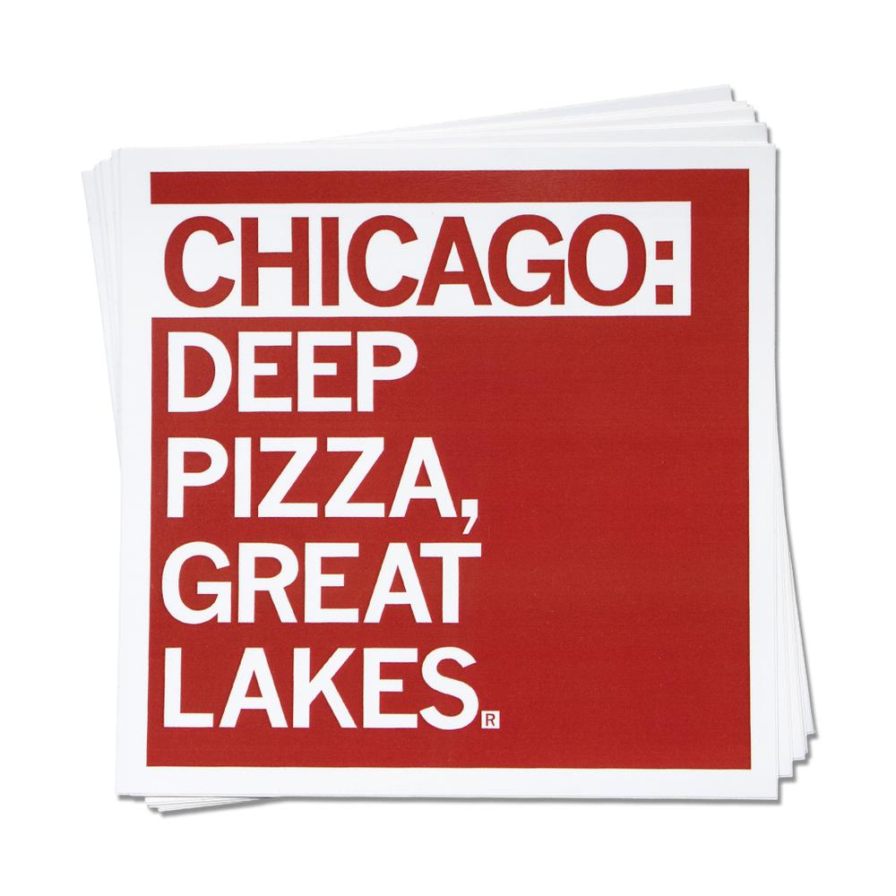 Chicago: Deep Pizza, Great Lakes Sticker