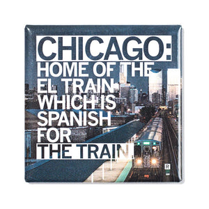 Chicago El Train Photo Magnet