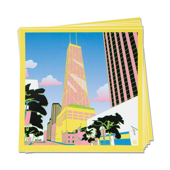 Hancock Building Illustration Sticker