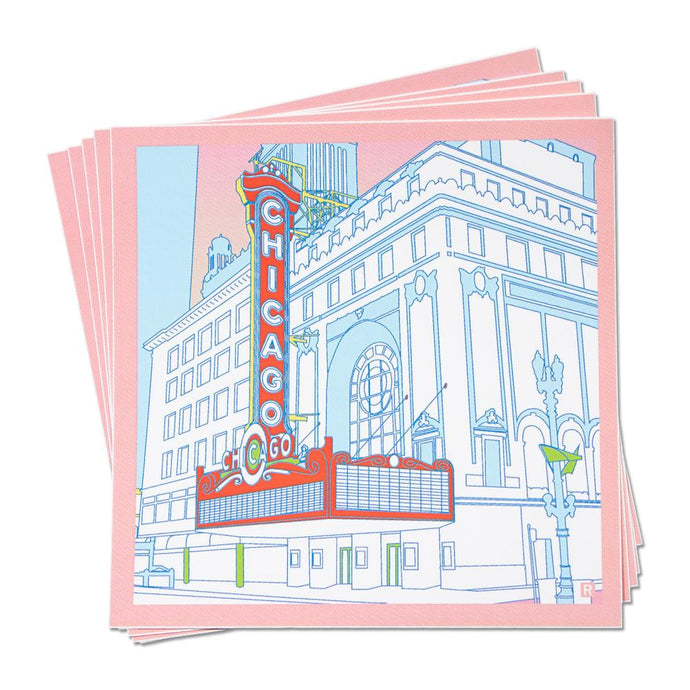 Chicago Theatre Illustration Sticker