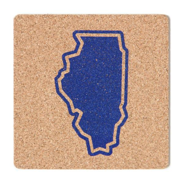 Illinois State Outline Coaster