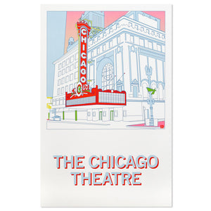 "Chicago Theatre 11"" x 17"" Illustrated Poster"