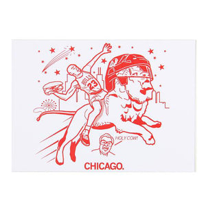 Air Chicago Chicago Bulls Postcard