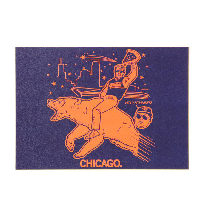 Chicago Bears Holy Schnikes Postcard