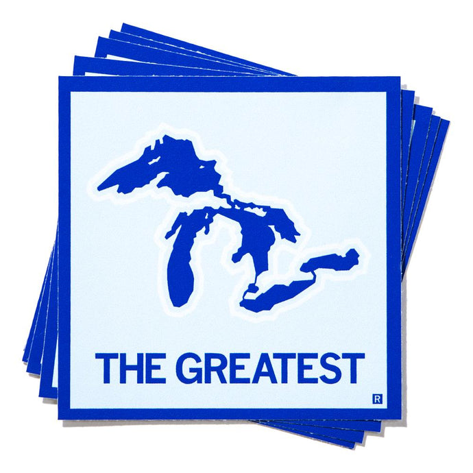 Great Lakes The Greatest Square Sticker