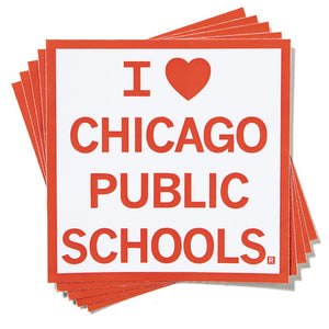 I Heart Chicago Public Schools Sticker