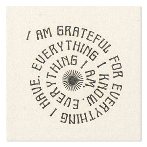 "I Am Grateful For Everything 11"" x 11"" Print"