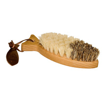 Fish-Shaped Wood Vegetable Brush