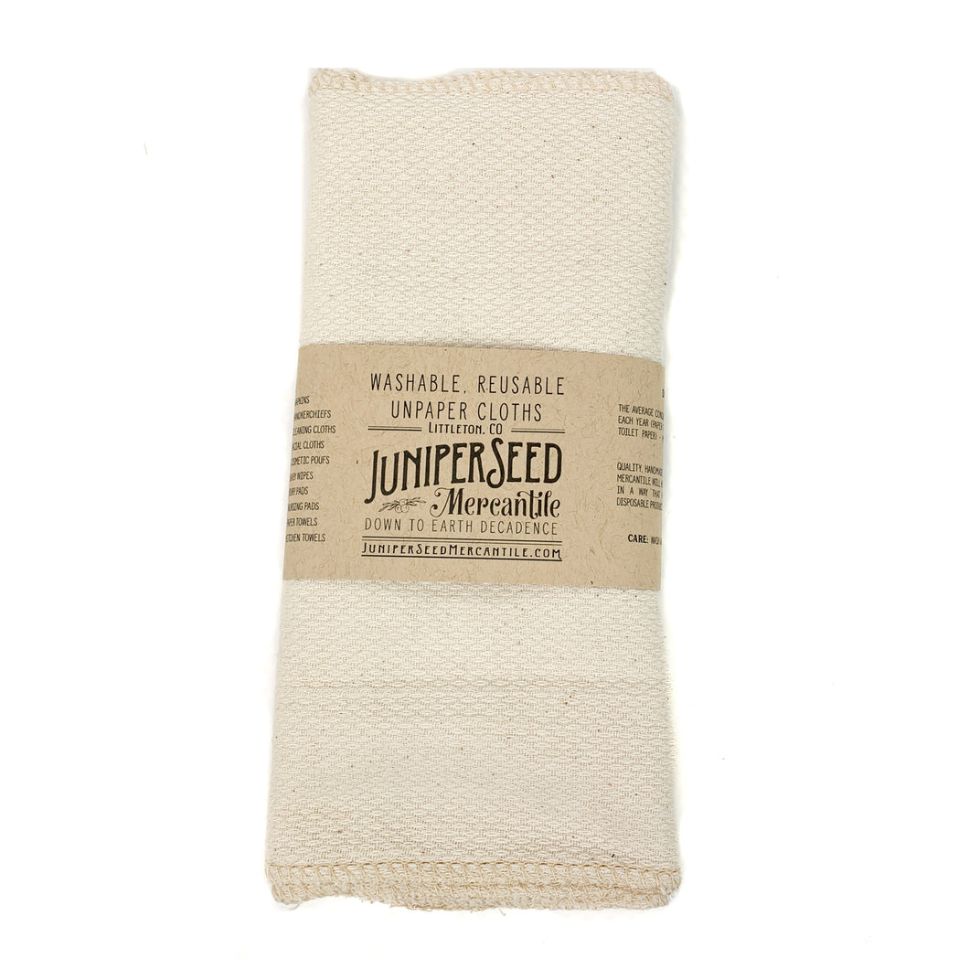 Organic Cotton Unpaper Reusable Paper Towels (Set of 6)