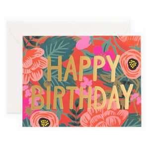Poppy Floral Happy Birthday Box Set of 8 Greeting Cards