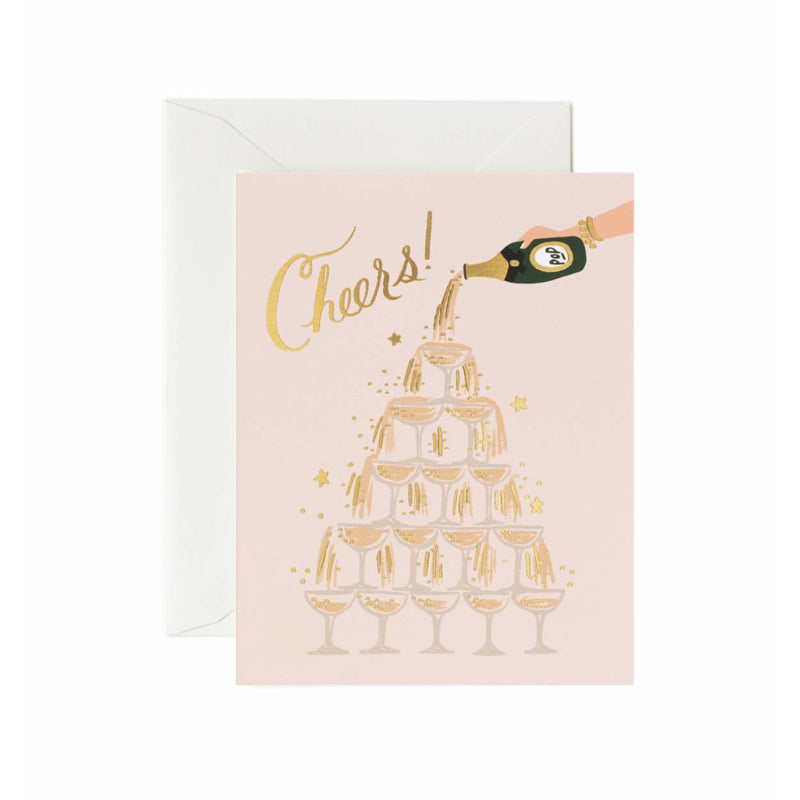 Champage Tower Cheers Greeting Card