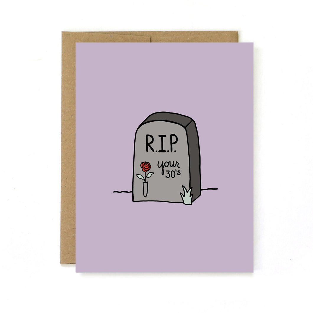 RIP 30s Birthday Card