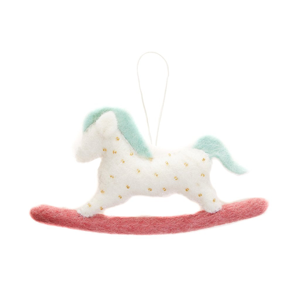 Fair Trade Felt Rocking Horse Ornament