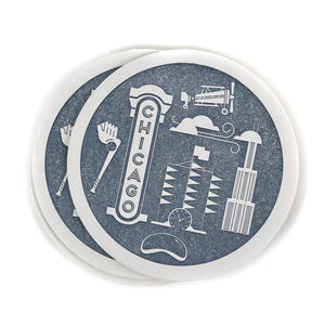 Chicago Letterpress Coasters (Set of 10)