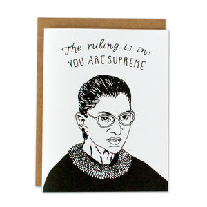Ruth Bader Ginsberg You Are Supreme Card