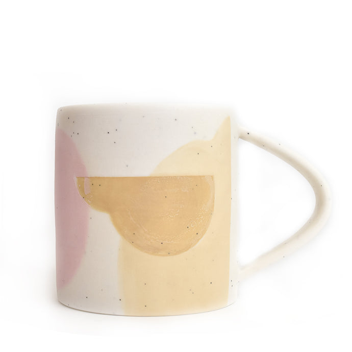 Handmade Speckled Porcelain Shapes Mug