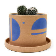 Stoneware Planter with Saucer