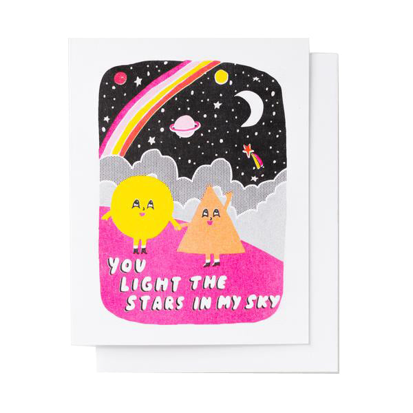 You Light the Stars Love Card