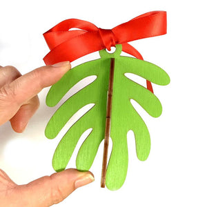 Wooden Mistletoe Ornament