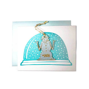 2020 Snowman Ornament Card