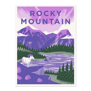 "Rocky Mountain National Park 18"" x 24"" Screenprint"