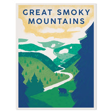 "Great Smoky Mountains 18"" x 24"" Screenprint"