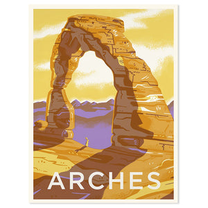 "Arches National Park 18"" x 24"" Screenprint"