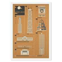 "Chicago Architecture 12"" x 18"" Screenprint"