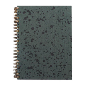 "Rain Splatter Painted Cover 5.5"" x 7.5"" Notebook"