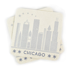 Chicago Letterpress Coasters - Set of 5