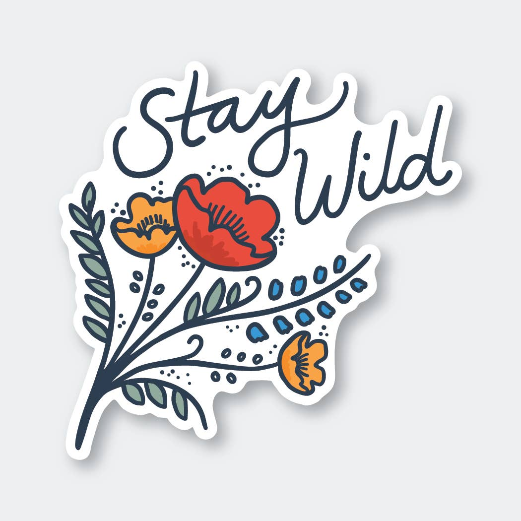 Stay Wild Wildflowers Sticker